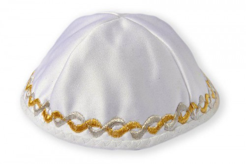 Embroidered satin Kippot 62