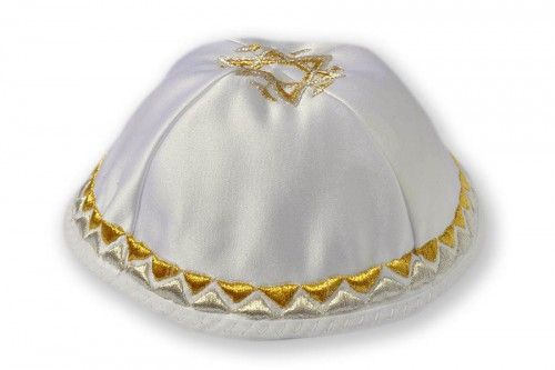 Embroidered satin Kippot 205
