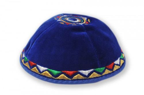 Embroidered Velvet Kippot 217