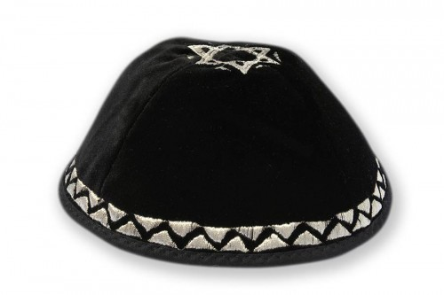 Embroidered Velvet Kippot 228