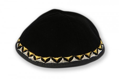 Embroidered Velvet Kippot 234