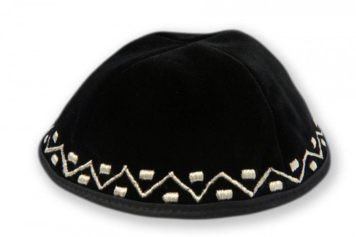 Embroidered Velvet Kippot 246