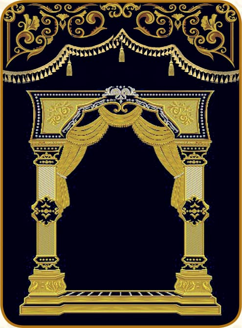פרוכת בסגנון שערים מלכותיים 144