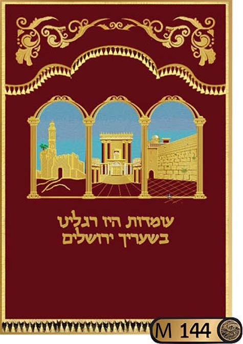 פרוכת לארון הקודש בסגנון בית המקדש M144