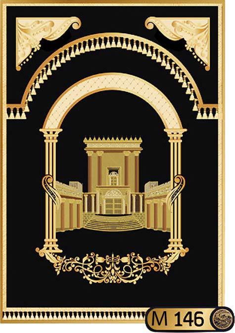 פרוכת לארון הקודש בסגנון בית המקדש M146