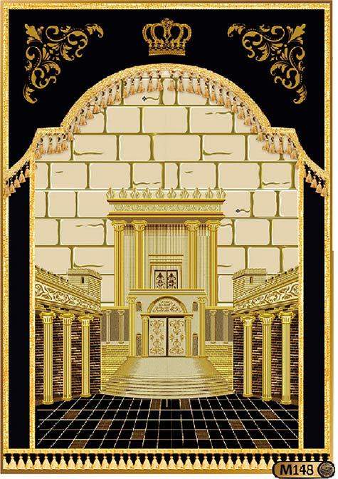 פרוכת לארון הקודש בסגנון בית המקדש M148