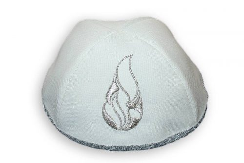 Embroidered satin Kippot K1001